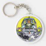 The Chariot Tarot Basic Round Button Key Ring