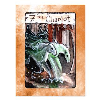 The Chariot Tarot Card Postcard