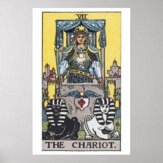 The Chariot Tarot Card Poster