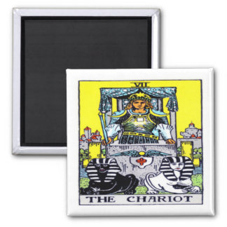 The Chariot Tarot Square Magnet
