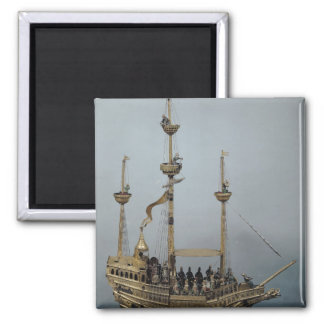 The Charles V automatic clock Square Magnet