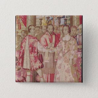 The Charles V Tapestry 15 Cm Square Badge