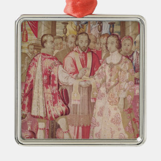 The Charles V Tapestry Silver-Colored Square Decoration