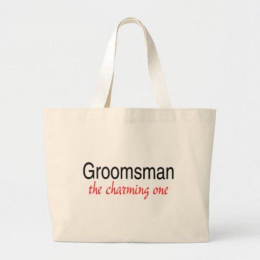 The Charming One (Groomsman) Jumbo Tote Bag