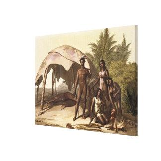 The Charrua Indians of Uruguay (colour litho) Canvas Print