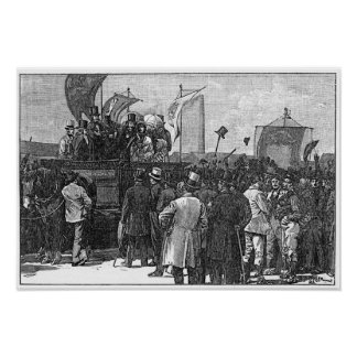 The Chartist Demonstration on Kennington Poster