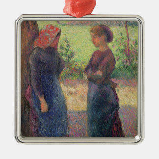 The Chat, c.1892 (oil on canvas) Christmas Ornament