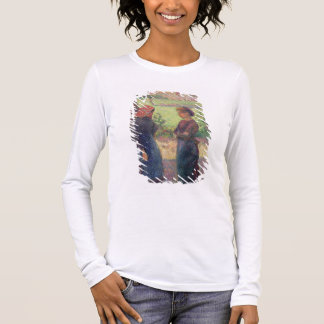 The Chat, c.1892 (oil on canvas) Long Sleeve T-Shirt
