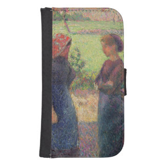 The Chat, c.1892 (oil on canvas) Samsung S4 Wallet Case
