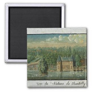 The Chateau de Chantilly Square Magnet
