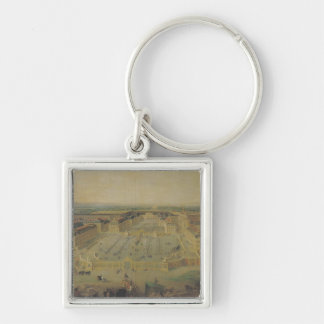 The Chateau de Versailles and the Place Silver-Colored Square Key Ring