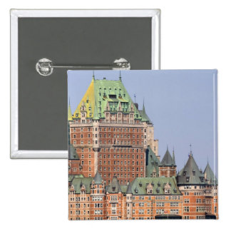 The Chateau Frontenac in Quebec City, Canada. 15 Cm Square Badge