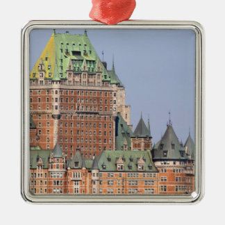 The Chateau Frontenac in Quebec City, Canada. Silver-Colored Square Decoration