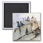 The Chateau of Vianden, 1871 Refrigerator Magnets