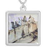 The Chateau of Vianden, 1871 Square Pendant Necklace