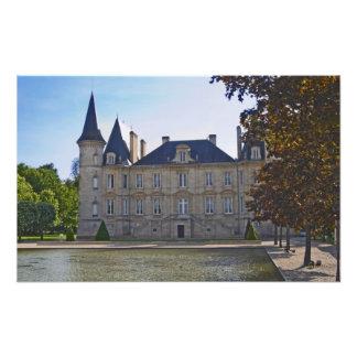 The Chateau Pichon Longueville Baron and pond Photo
