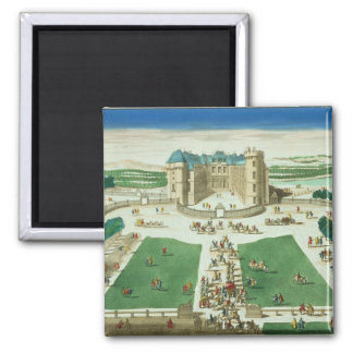 The Chateau Rambouillet, engraved by Antoine Aveli Magnet
