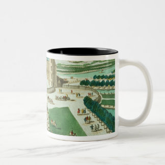 The Chateau Rambouillet, engraved by Antoine Aveli Two-Tone Coffee Mug
