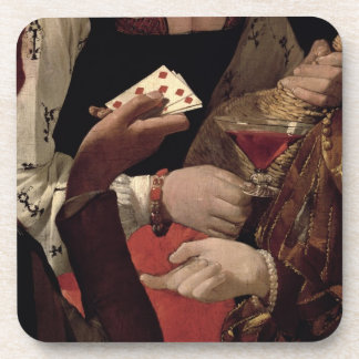 The Cheat with the Ace of Diamonds, detail of the Coaster