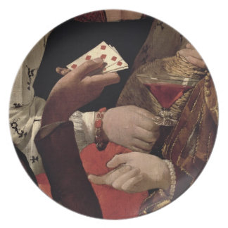 The Cheat with the Ace of Diamonds, detail of the Party Plates