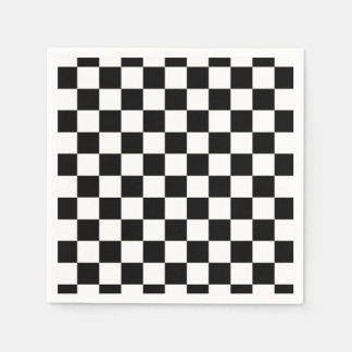 The Checker Flag Paper Napkin