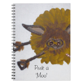 The cheeky Highland Cow Spiral Notebook