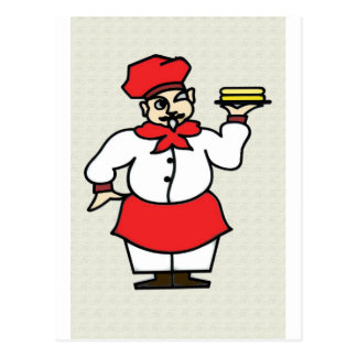 The Chef Postcard