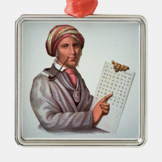 The Cherokee Scholar, Sequoyah (1776-1843) (colour Christmas Ornament