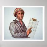 The Cherokee Scholar, Sequoyah (1776-1843) (colour Poster