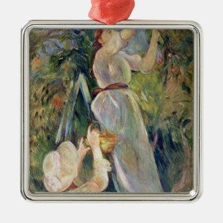 The Cherry Picker Silver-Colored Square Decoration
