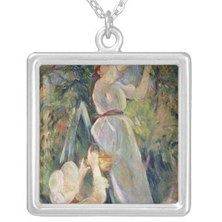 The Cherry Picker Silver Plated Necklace
