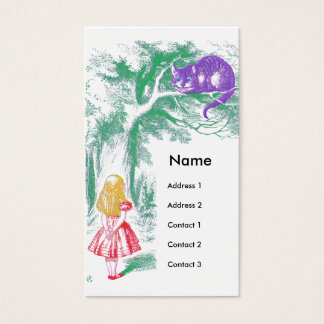 """""""The Cheshire Cat"""" from """"Alice in Wonderland"""" Business Card"""