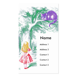 """""""The Cheshire Cat"""" from """"Alice in Wonderland"""" Pack Of Standard Business Cards"""