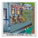 The Cheshire Cat Has Dentures Poster