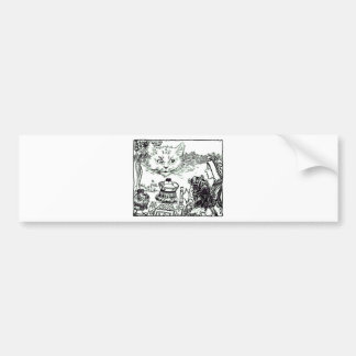 The Cheshire Cat Vintage Illustration Bumper Sticker