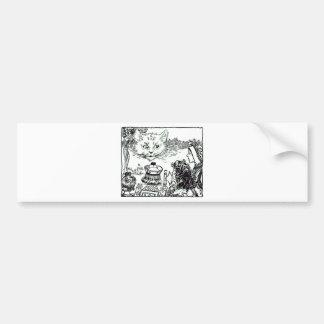 The Cheshire Cat Vintage Illustration Bumper Sticker