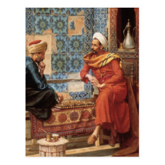 The Chess Game in detail postcard