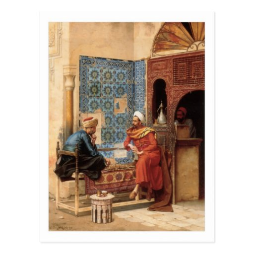 The Chess Game postcard