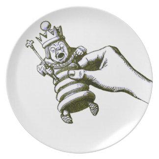 The Chess King Tenniel Plate