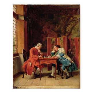 The Chess Players, 1856 Poster