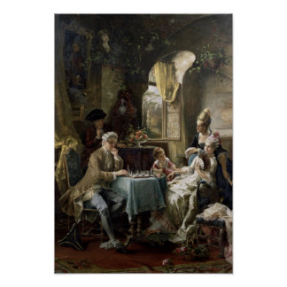 The Chess Players, 1887 2 Poster
