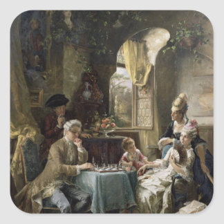 The Chess Players, 1887 2 Square Sticker