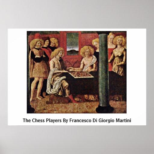 The Chess Players By Francesco Di Giorgio Martini Poster