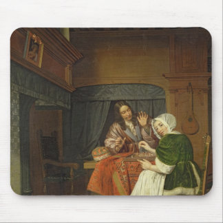The Chess Players, c.1670 Mouse Mat