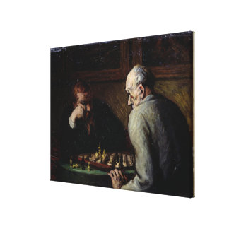 The Chess Players, c.1863-67 Canvas Print
