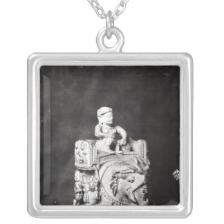 The Chessboard of Charlemagne' Silver Plated Necklace