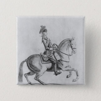 The Chevalier d'Eon as a Dragoon, 1779 15 Cm Square Badge