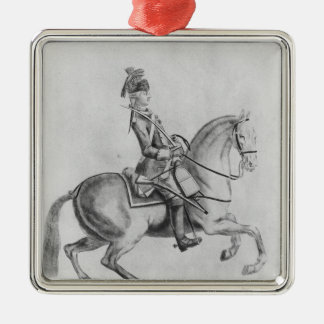 The Chevalier d'Eon as a Dragoon, 1779 Christmas Ornament