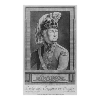 The Chevalier d'Eon as a Dragoon, 1779 Poster