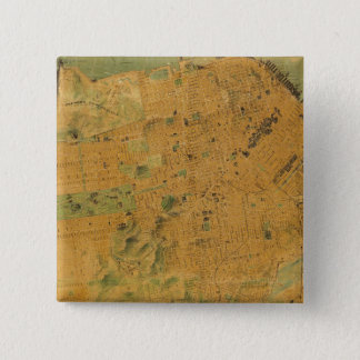 The Chevalier  Map of San Francisco 15 Cm Square Badge
